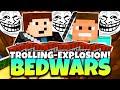 Minecraft - BEDWARS | TROLLING-EXPLOSION! | GommeHD n Fr3akzLP