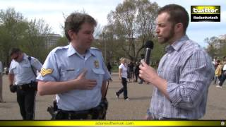 Video Adam verbally body slams, chokes out cops at White House #KOKESHED MP3, 3GP, MP4, WEBM, AVI, FLV Desember 2018