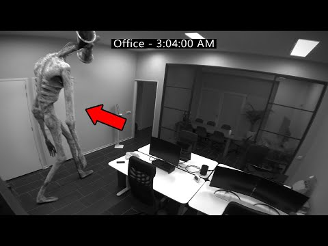 Siren Head Caught on Security Camera