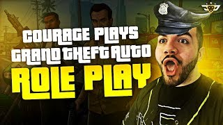 COURAGE PLAYS GTA ROLEPLAY?! I PUNCHED A GIRL?! (GTA V)