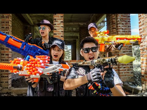 LTT Game Nerf War : Warriors SEAL X Nerf Guns Fight Braum Crazy Justice Duo Catch The Crook