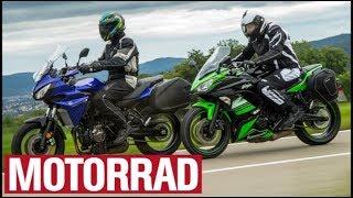 10. Kawasaki Ninja 650 vs. Yamaha Tracer 700 (English Subtitles)