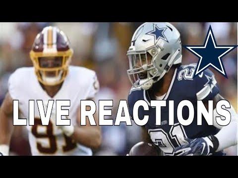 Dallas Cowboys vs Washington Redskins   Live Reaction & More!!!