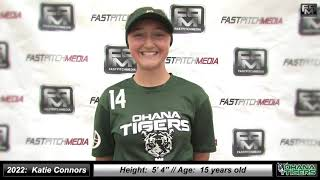 2022 Katie Connors Lefty Pitcher and Outfield Softball Skills Video - Ohana Tigers