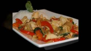 THAI FOOD Spicy Basil Chicken Recipe