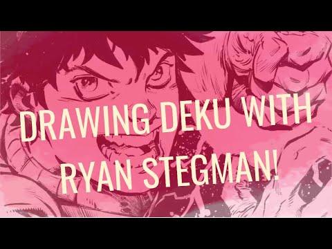 Marvel Comics Artist Ryan Stegman draws Deku from My Hero Academia!
