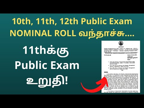 10th 11th 12th public exam time table 2021 | NOMINAL ROLL | Toppers Education