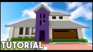 Minecraft: Big Modern House / Mansion Tutorial + 1.8/1.9 [ How To Make ]