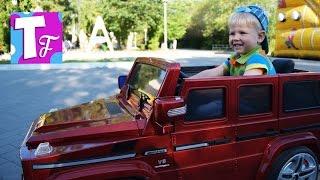 ВЛОГ Красный ЭЛЕКТРОМОБИЛЬ Детский Мерседес 🚗 G55 AMG Red Car Kids Mercedes AMG