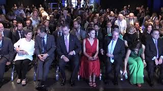 SS. MM. los Reyes llegan a la ceremonia de entrega de los Premios Princesa de Girona 2018
