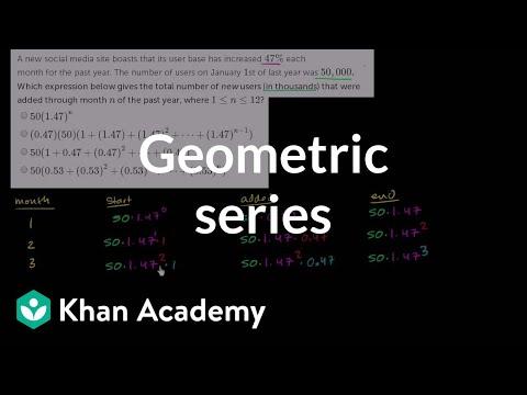 Finite Geometric Series Word Problem Social Media Video