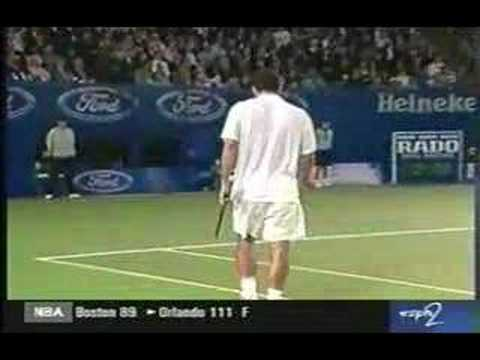 Sampras Vs Agassi Incredible Tie-Break Aussie Open 2000.