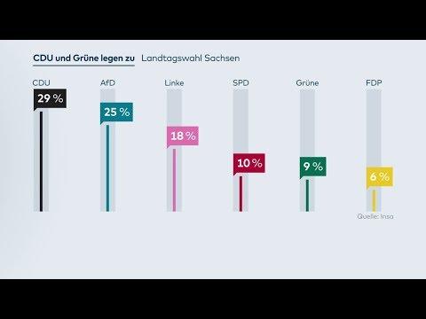 INSA-Umfrage: Grüne legen auch in Sachsen zu, CDU vor AfD