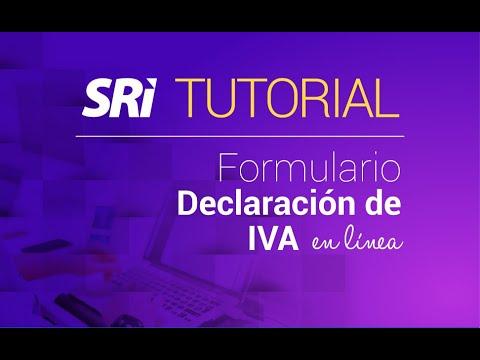 Ver el video Tutorial Declaración IVA en línea