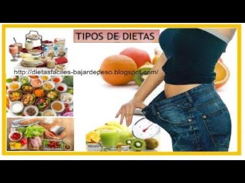 Dietas para adelgazar -  Tipos de dietas  Tipos de dietas para bajar de peso