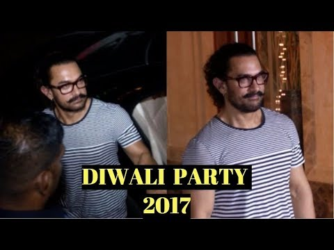 Aamir Khan At Sanjay Dutt's Diwali Party 2017