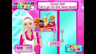 Barbie decided to open a hamburger cafe! Starting your own business is never easy, so she really needs a helping hand. Make hamburgers and drinks according to the customers' tastes, and help Barbie will serve them. If you work fast and earn good money, you can upgrade the menu!http://www.cookinggames.com/barbie-fun-cafe.html