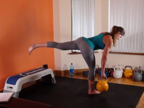 Full Body Kettlebell and BodyWeight Exercise Routine (HIIT Style)