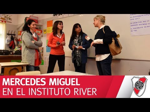 Mercedes Miguel visitó el Instituto River Plate