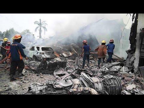 Ινδονησία: Συντριβή C-130 σε κατοικημένη περιοχή της βόρειας Σουμάτρας