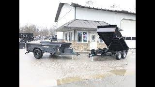 8. Lamar DS60 Hydraulic Dump Trailer Comparision 5x10 7000# GVW SINGLE AXLE VS. TANDEM AXLE