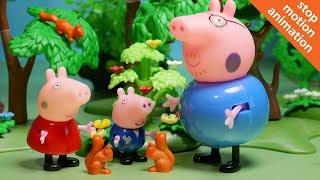 Свинка Пеппа спасает белочку. Мультик из игрушек Свинка Пеппа на русском.