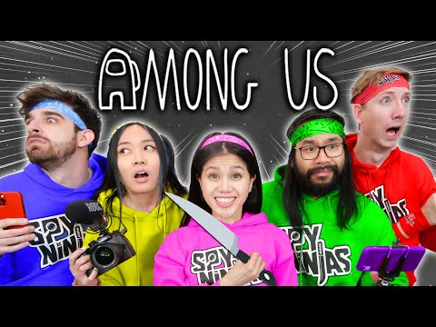 PLAYING AMONG US with SPY NINJAS New Roles Mod - Among Us in HD cuz It's in Real Life