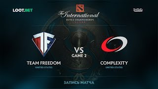 Freedom vs coL, Game 2, The International 2017 NA Qualifier