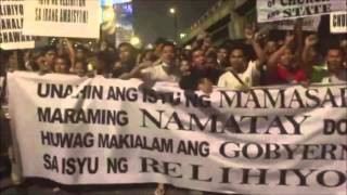 Iglesia members gather at EDSA Shrine