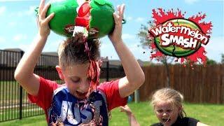 Video Kids Play Watermelon Smash Challenge!!! Brother vs Sister Edition! MP3, 3GP, MP4, WEBM, AVI, FLV Juni 2018