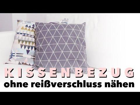 DIY | Kissenbezug nähen für Anfänger | (ohne Reißverschluss)