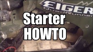 8. Starter replacement - Suzuki Eiger ATV - HOWTO
