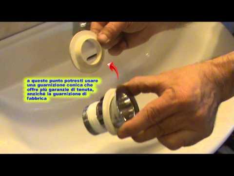 Come sostituire la  piletta del lavabo