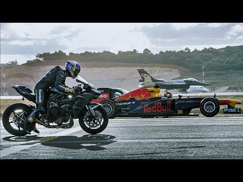 Ninja H2R Siêu Đại Chiến Chiến Cơ F-16, Siêu Xe F1, GT 430, Challenger 605 - Thời lượng: 2:37.