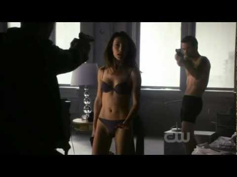 Nikita 1x18 - Into The Dark - Michael, Nikita & Owen (Starting scene)