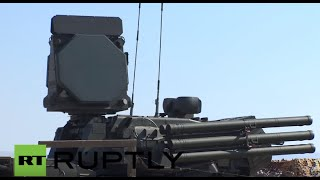 Syria: Footage shows Russian Pantsir-S2 & S-400 Triumf at Hmey...