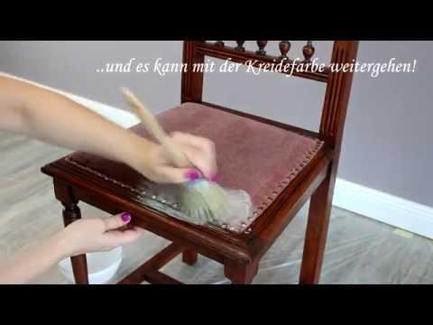 Stoffe mit Kreidefarbe anmalen - Der Test