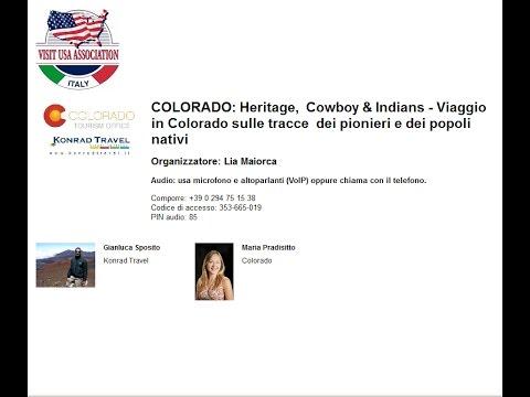 Video COLORADO: Heritage, Cowboy & Indians Viaggio in Colorado sulle tracce dei pionieri e dei popoli nativi (29/3/2016)