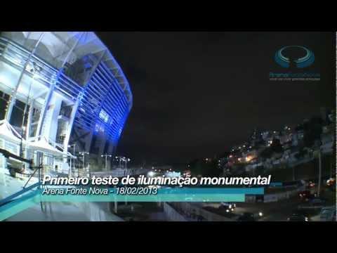 Teste de iluminação – Arena Fonte Nova