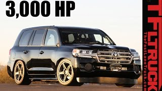 220 MPH Toyota SEMA Land Speed Cruiser Can't Go Off-Road - But Who Cares! by The Fast Lane Truck