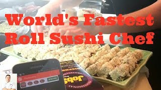 World's Fastest Roll Sushi Chef   How To Make Sushi Fast by Diaries of a Master Sushi Chef