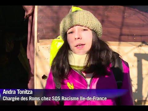 SOS Racisme aux cotés des roms menacées d'expulsion par Azzedine Taibi, maire PCF de Stains