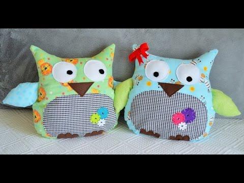 Handmade Plush Toy Owl Pillows from Ivanka's little treasures