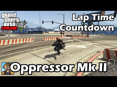 Fastest Motorcycles (Oppressor Mk II) - GTA 5 Best Fully Upgraded Bikes Lap Time Countdown