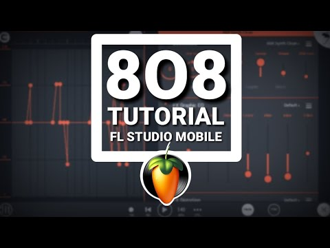 How to use 8O8 bass in fl studio mobile | Distortion and slide tutorial
