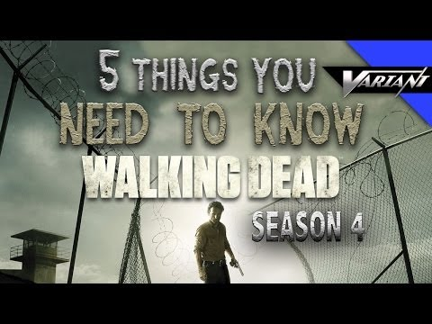 5 Need To Know Things About The Walking Dead Season 4!
