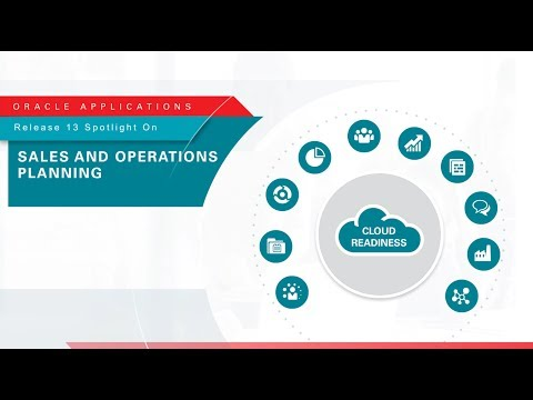 Oracle Applications Release 13 Spotlight on  Sales and Operations Planning