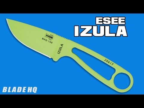 ESEE Izula Knife Venom Green Survival Neck Knife