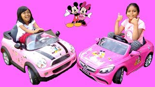 Watch these little girls decorate their Pink Ride On Cars with Disney Minnie & Mickey stickers. They decorate the awesome 6V Pink Mini Cooper and a cool 12V Pink Mercedes S63 AMG Power Wheels. Afterwards, the little girls take the Ride On cars for a test drive!Check our Awesome Videos:https://www.youtube.com/watch?v=jBIiwxpFK4c&list=PLzahQAalW-PgGFBK2ej2w-elb6BEC6ly4Our Fun Ride On Videos:https://www.youtube.com/watch?v=W5Ia-QfGWOo&list=PLzahQAalW-PgDVj590PlF9K06iw6ZTlv3Superhero & Princess Action Videos:https://www.youtube.com/watch?v=jR75lmudg40&list=PLzahQAalW-Pg47AHlXl1Tf1z5T9oYbSXoShopping & Days Out:https://www.youtube.com/watch?v=22fCmnnULNw&list=PLzahQAalW-PiyVi7AHw7-LDJGIKxc1zGNToy in other Languages: खिलौने, brinquedos, ของเล่น, اللعب, igračke, đồ chơi, oyuncaklar, leksaker, juguetes, играчке, игрушки, jucării, тоглоом, leker, اسباب بازی, zabawki, 장난감, トイズ, giocattoli, mainan, játékok, צעצועים, Hračky, legetøj, speelgoed, laruan, jouets, Spielzeug, ΠαιχνίδιαNadia Amani Toys is a fun channel where we do Toy reviews and unboxing, Playtime fun, Power Wheels Unboxing, Games and challenges, family days out, fun activities and more! We love kids YouTube Channels so we asked our dad to help us make our own! So guys can you please LIKE-COMMENT-SUBSCRIBE to our channel and help Nadia Amani Toys grow. Thank you.