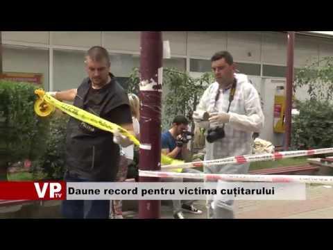 Daune record pentru victima cuțitarului